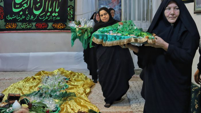 گزارش تصویری آیین سینی گردانی حضرت قاسم (ع) در بندر ماهشهر